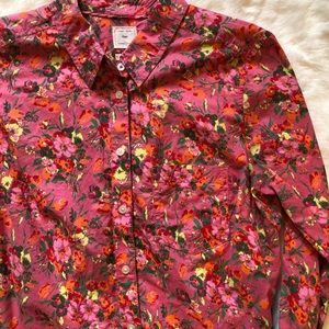 3/$20 Gap pink floral top small